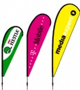 Promotional beach flags